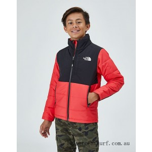 Kids' The North Face Balanced Rock Insulated Jacket Scarlet On Sale