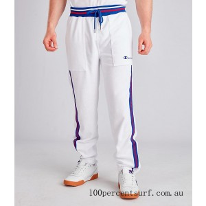 Men's Champion Terry Warm-Up Pants White On Sale
