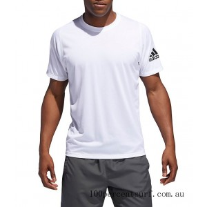 Men's adidas FreeLift Sport Ultimate Solid T-Shirt White On Sale