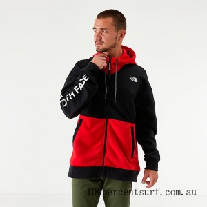 Men's The North Face Graphic Collection Full-Zip Hoodie TNF Red/Black On Sale