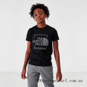 Boys' The North Face NSE Box T-Shirt Black On Sale