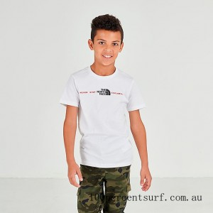 Boys' The North Face Never Stop Exploring T-Shirt White On Sale