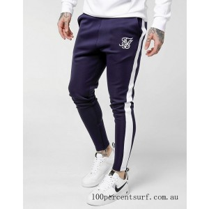 Men's SikSilk Poly Track Pants Navy On Sale