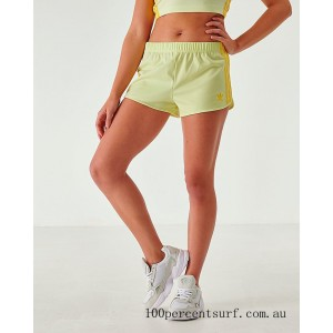 Black Friday 2021 Women's adidas Originals 3-Stripes Shorts Ice Yellow Clearance Sale