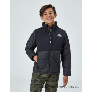 Kids' The North Face Balanced Rock Insulated Jacket Black On Sale