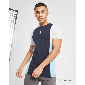 Men's Gym King Front Panel T-Shirt Navy On Sale