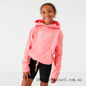 Black Friday 2021 Girls' Nike Therma Shine Pullover Training Hoodie Pink Gaze Clearance Sale