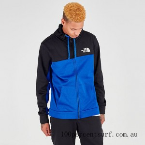 Black Friday 2021 Men's The North Face Surgent Bloc 2.0 Full-Zip Hoodie TNF Black/Blue Clearance Sale