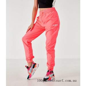 Black Friday 2021 Women's Puma Chase Woven Jogger Pants Pink Alert Clearance Sale