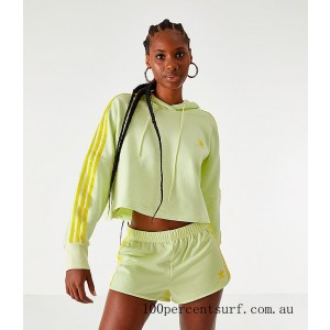 Women's adidas Cropped Hoodie Ice Yellow On Sale
