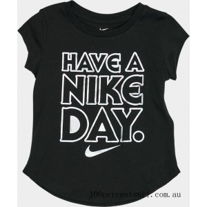 Girls' Toddler Have A Nike Day T-Shirt Black On Sale