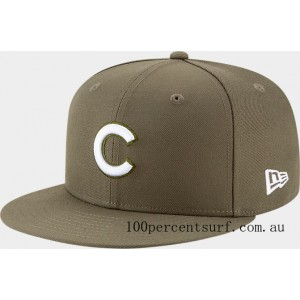 New Era Chicago Cubs MLB 9FIFTY Snapback Hat Olive On Sale