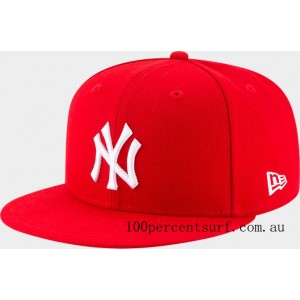 New Era New York Yankees MLB 9FIFTY Snapback Hat Red On Sale