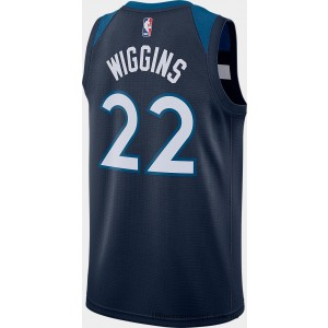 Men's Nike Minnesota Timberwolves NBA Andrew Wiggins Icon Edition Connected Jersey College Navy On Sale
