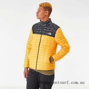 Men's The North Face Thermoball Eco Jacket Yellow/Black On Sale