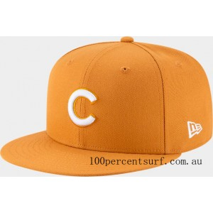 New Era Chicago Cubs MLB 9FIFTY Snapback Hat Tan On Sale