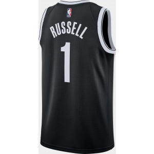 Men's Nike Brooklyn Nets NBA D'Angelo Russell Icon Edition Connected Jersey Black On Sale