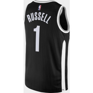 Men's Nike Brooklyn Nets NBA D'Angelo Russell City Edition Connected Jersey Black On Sale