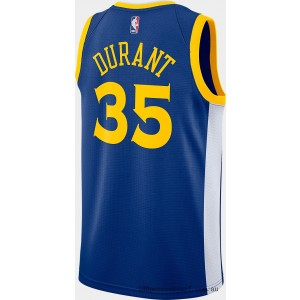 Black Friday 2021 Men's Nike Golden State Warriors NBA Kevin Durant Icon Edition Connected Jersey Rush Blue/White/Amarillo Clearance Sale