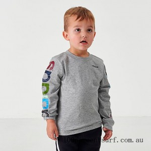 Black Friday 2021 Boys' Toddler and Little Kids' Multi Sleeve Linear Long-Sleeve T-Shirt Grey/Multi Clearance Sale