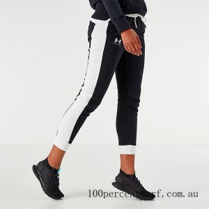 Black Friday 2021 Women's Under Armour Rival Fleece Graphic Pants Black Clearance Sale