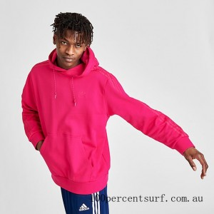 Black Friday 2021 Men's adidas Originals Winterized Hoodie Bright Pink Clearance Sale