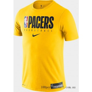 Men's Nike Indiana Pacers NBA Practice T-Shirt Amarillo On Sale