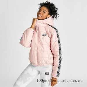 Black Friday 2021 Women's adidas Originals Vocal Taped Padded Jacket Pink Spirit Clearance Sale