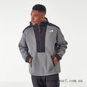 Black Friday 2021 Men's The North Face Graphic Collection Half-Zip Hoodie TNF Grey/Heather Clearance Sale