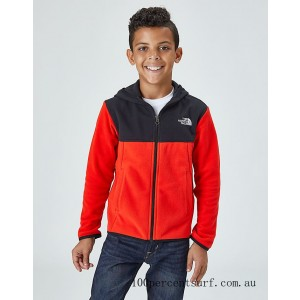 Boys' The North Face Glacier Full-Zip Hoodie Red/Black On Sale
