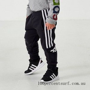 Boys' Toddler and Little Kids' adidas Core Linear Logo Jogger Pants Black On Sale