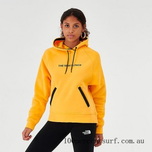 Women's The North Face Pullover Hoodie Yellow/Black On Sale