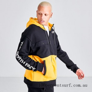 Black Friday 2021 Men's The North Face Graphic Collection Full-Zip Hoodie TNF Yellow/Black Clearance Sale