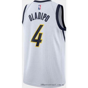 Men's Nike Indiana Pacers NBA Victor Oladipo Earned Edition Swingman Jersey White On Sale