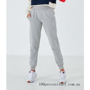 Black Friday 2021 Women's Champion Reverse Weave Small Logo Jogger Sweatpants Oxford Grey Clearance Sale