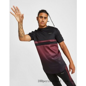 Men's Supply & Demand Roller Fade 2 T-Shirt Black/Faded Maroon On Sale