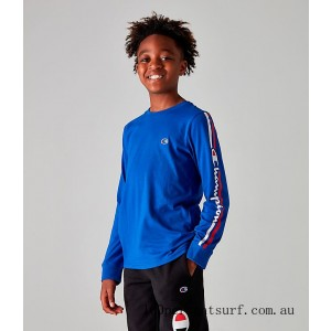 Black Friday 2021 Kids' Champion Heritage Classic Graphic Long-Sleeve T-Shirt Surf The Web Clearance Sale