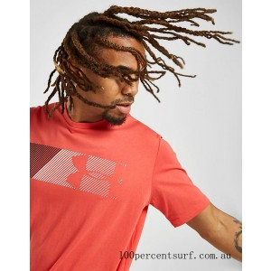 Men's Under Armour Fast Left Chest T-Shirt Red On Sale