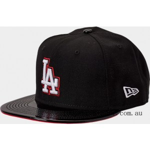 New Era Los Angeles Dodgers MLB Patent 9FIFTY Snapback Hat Black/Red On Sale