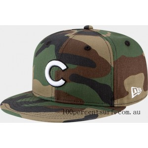 New Era Chicago Cubs MLB 9FIFTY Snapback Hat Camo On Sale