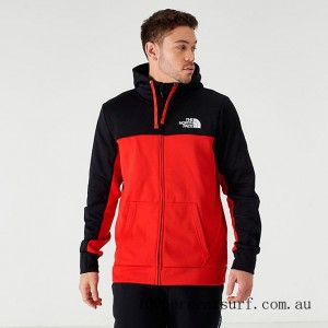 Black Friday 2021 Men's The North Face Surgent Bloc 2.0 Full-Zip Hoodie TNF Black/Red Clearance Sale