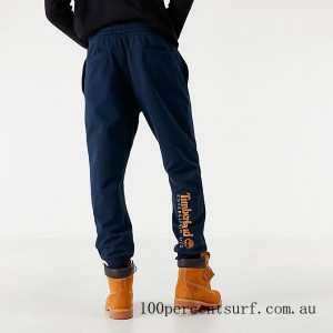 Black Friday 2021 Men's Timberland Scripted Jogger Pants Navy Clearance Sale