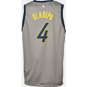 Kids' Nike Indiana Pacers NBA Victor Oladipo City Edition Swingman Connected Jersey Steel Grey On Sale