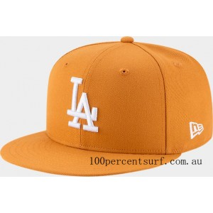 New Era Los Angeles Dodgers MLB 9FIFTY Snapback Hat Tan On Sale