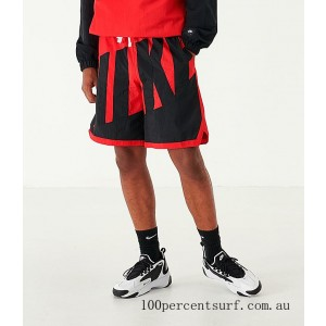 Black Friday 2021 Men's Nike Dri-FIT Throwback Basketball Shorts Red/Black Clearance Sale