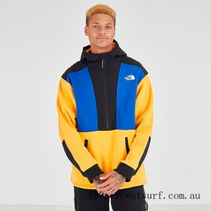 Men's The North Face Graphic Collection Half-Zip Hoodie TNF Yellow/Blue/Black On Sale