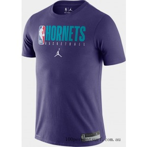 Men's Nike Charlotte Hornets NBA Practice T-Shirt New Orchid On Sale