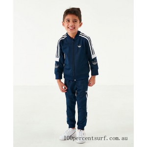 Boys' Toddler and Little Kids' adidas Originals SPRT BB Track Suit Collegiate Navy/White On Sale