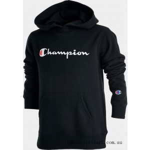 Black Friday 2021 Kids' Champion Graphic Hoodie Black Clearance Sale