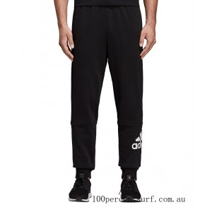 Men's adidas Must Haves French Terry Badge of Sport Sweatpants Black/White On Sale